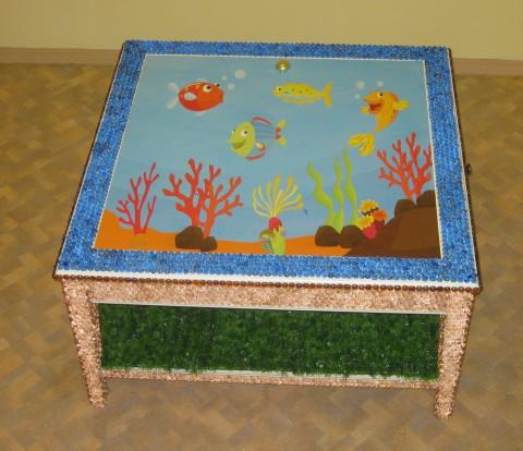 """Стол - песочница для работы психолога с песком """"Озеро"""""""