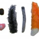 Набор «Теремок – Хвосты» (5 хвостов: мышка, заяц, лиса, волк, медведь)