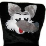 """Аппликация """"мордочка волка"""" с ушами"""
